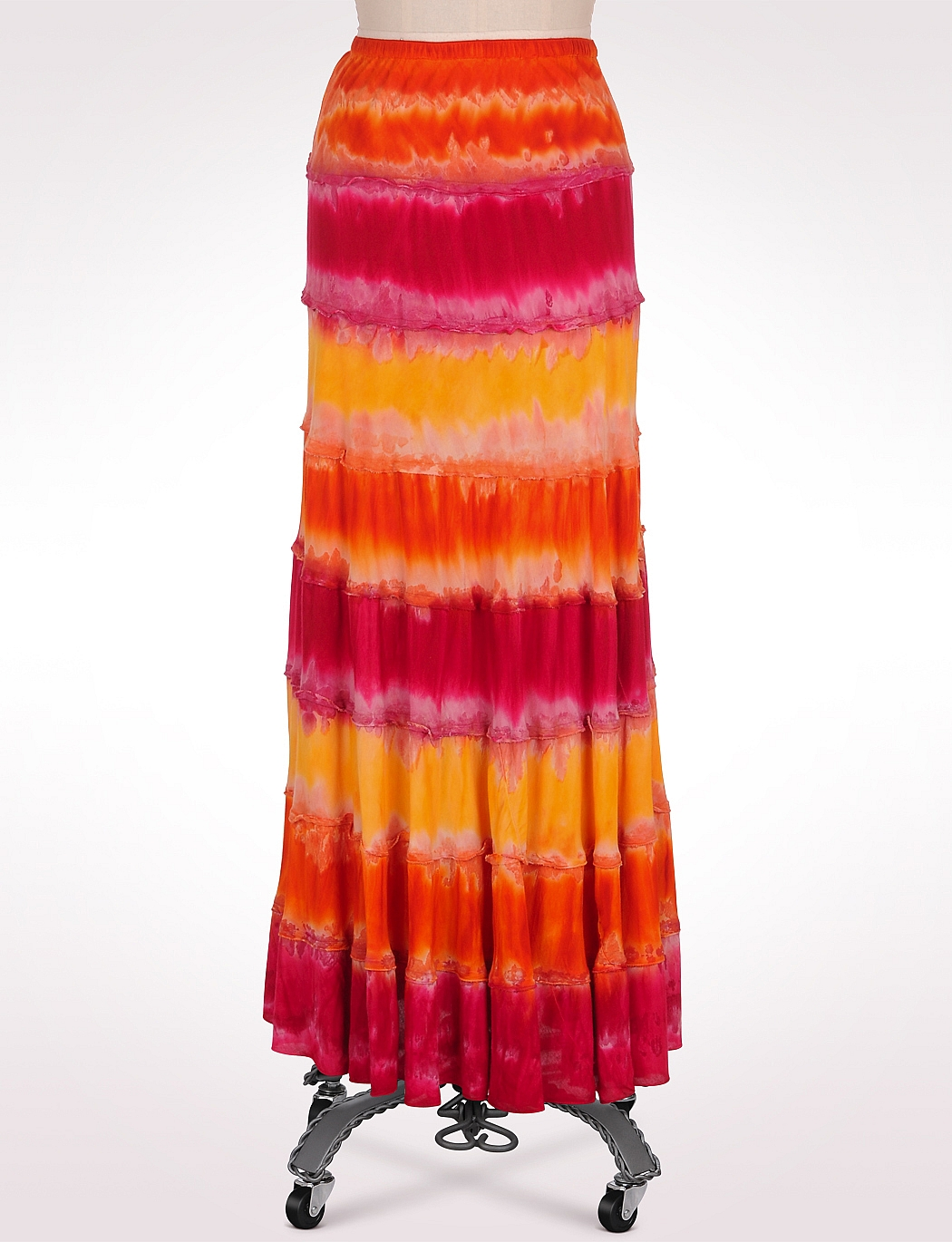 Colorful Cotton Fashion Skirt, Sunshine Tie-Dye Maxi Skirt