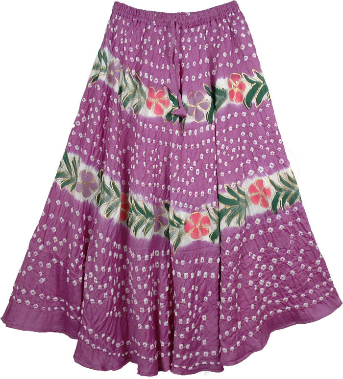 Summer Mauve Long Skirt, Royal Heath Summer Womens Skirt