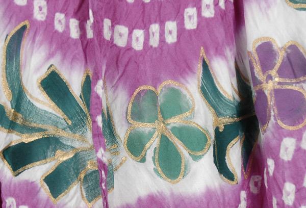 Puce Tie Dye Summer Skirt