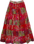 Shiraz Patchwork Long Skirt