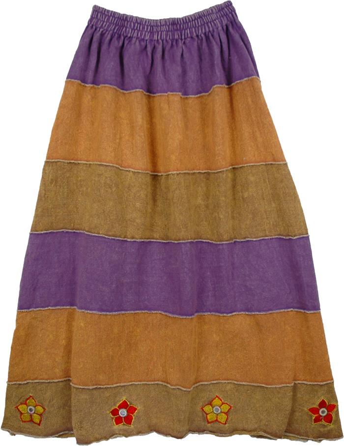 Sweater Like Knit Skirt Long Skirt, Boho Winter Knit Skirt