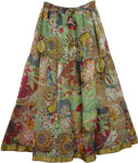 Chiffon Rainforest Long Skirt