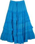 Cerulean Blue Frills Celebration Skirt