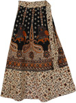 Elephant Polo Ethnic Wrap Long Skirt