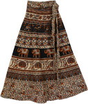 inka Animals Ethnic Wrap Long Skirt