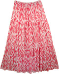 Ping Print Summer Long Skirt  [3381]