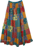 Gypsy Hippie Patchwork Summer Maxi Skirt