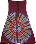 Tantrik Wine Berry Fashion Skirt