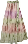 Allure Green Romantic Wrap Skirt