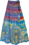 Eminence Cotton Panel Wrap Around Skirt
