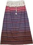 Crochet Cotton Stripes Skirt [3441]