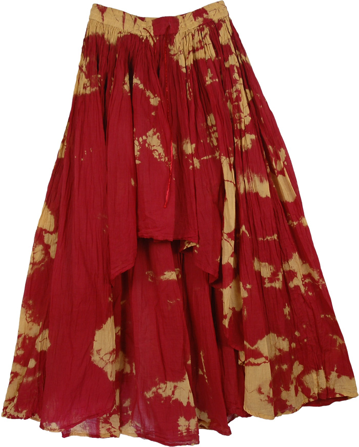 tamarillo twine high low skirt clothing tie dye high low