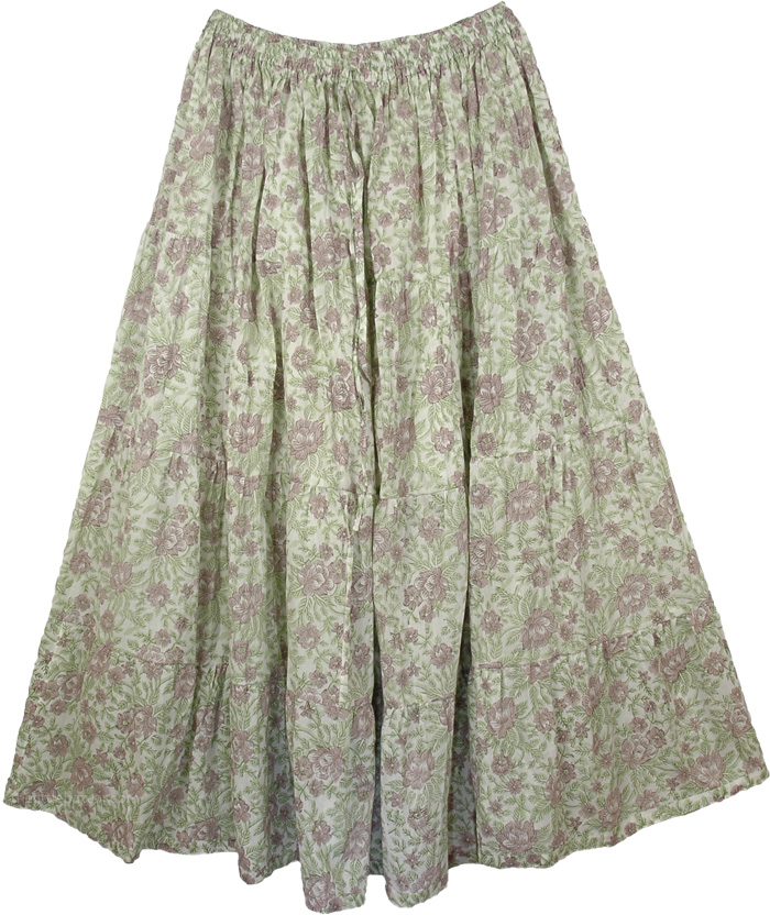 Bison Petals Large Long Skirt XL