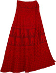 Guardsman Elephant Red Soft Wrap Skirt