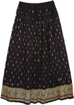Crinkle Fiesta Black Skirt