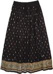 Crinkle Fiesta Black Skirt