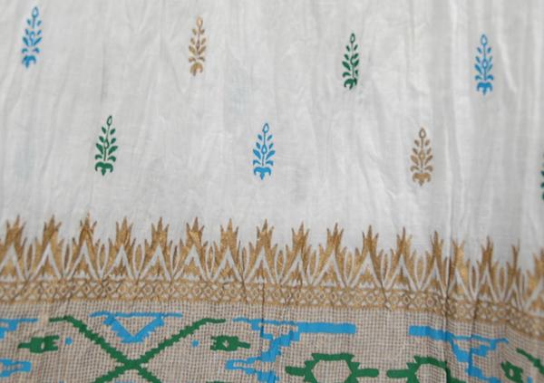 Crinkle Fiesta White Skirt