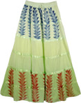 Bohemian Spread Green Skirt