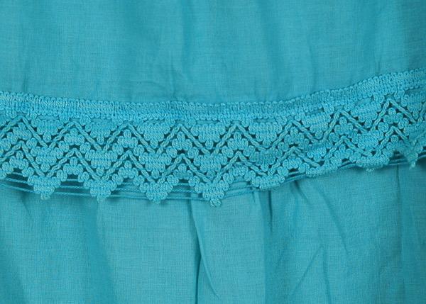 Bondi Blue Frills Long Skirt