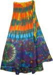 Hotice Cotton Wrap Around Long Skirt