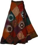 Boho Elate Wrap Around Fall Skirt