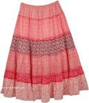 Maxi White Red Long Skirt [3539]