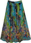 Navi Forest Printed Street Skirt