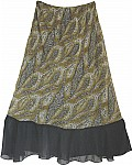 Animal Print Women`s Skirt