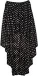 Black White Polka Dot Hi Low Skirt [3566]