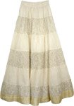 Yellow Crinkle Long Indian Skirt [3571]