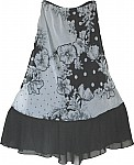 Floral Print Womens Long Skirt