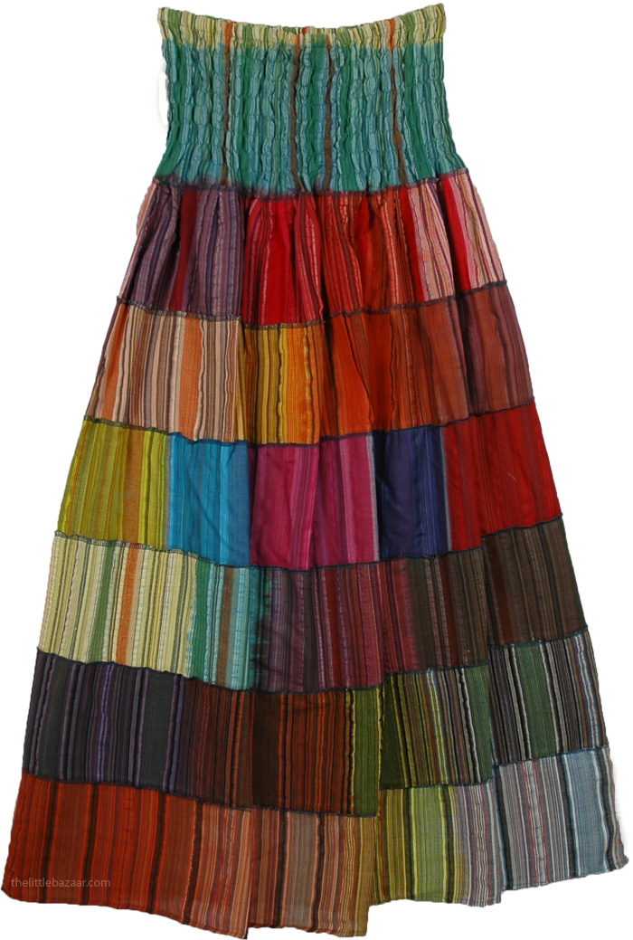 The Illusions Fiesta Skirt, Multicolor Bonanza Fiesta Skirt