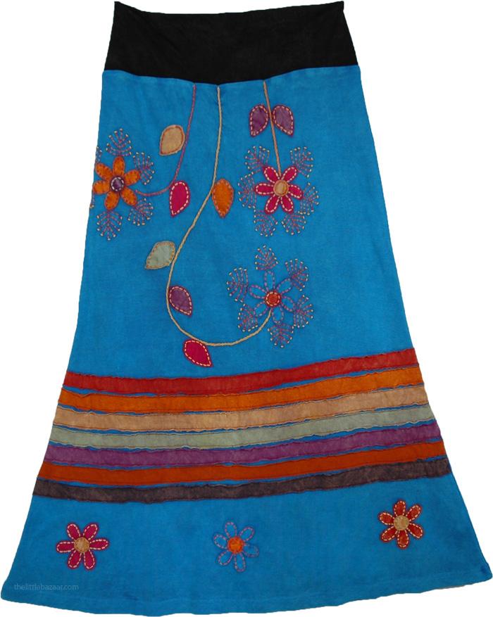 Winter Applique Skirt, Matisse Hippie Razor Skirt