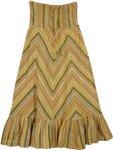 Smocked Band Cotton Skirt [3598]