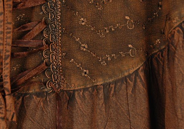 Irish Coffee Handkerchief Hem Skirt