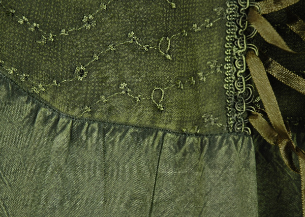 Olive Drab Renaissance Chic Skirt