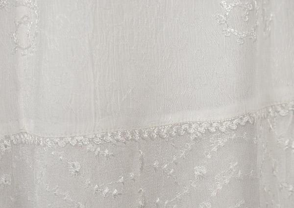 White Decor Crepe Skirt