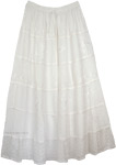 White Decor Crepe Maxi Skirt