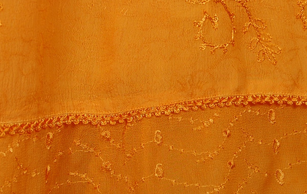 Orange Queen Crepe Skirt