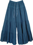 Royal Blue Palazzo Britches Split Skirt