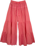 Pink Gaucho Pant Skirts [4021]