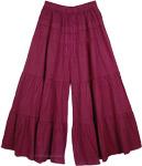 Dark Purple Split Pant Skirts [4022]