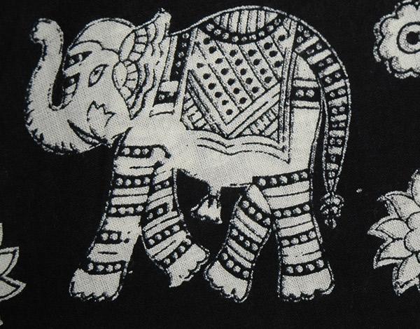 Summer Black White Elephant Wrap Skirt