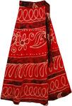 Cinnabar Long Cotton Wrap Skirt