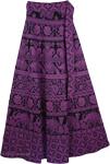 Long Wrap Skirt Eggplant