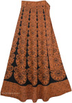 Mai Tai Brown Black Skirt