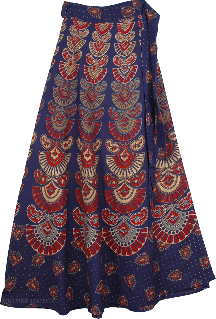 Fiji Blue Wrap Mud Skirt Wrap Around Skirt