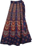 Fiji Blue Wrap Cotton Skirt