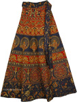 Blue Galore Ethnic Wrap Long Skirt