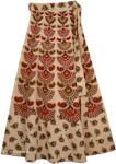 Aztec Mid Calf Length Skirt Wrap Around